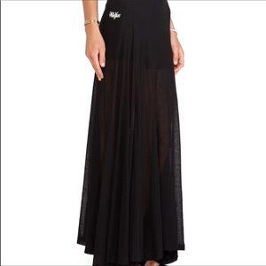 Wildfox Maxi Ribbed Knit Skirt NWT